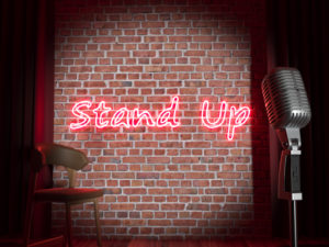 Stand-up comedy stage. High quality realistic render